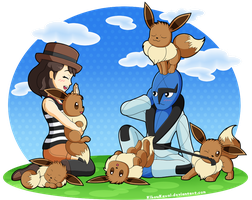 Pokemon X and Y - Me, Sawk and the eevees