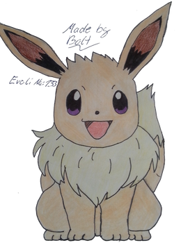 Eevee -Evoli- Draw by BoltMagie