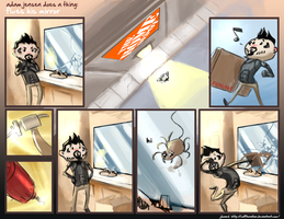 Adam Jensen Does a Thing: Mirror by CaffeineHeart