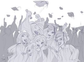WITCH Graduation Sketch by YummingDoe4