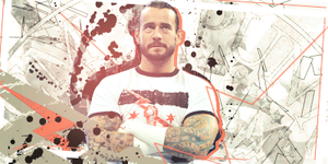 CM Punk Grunge Tag by TattyDesigns