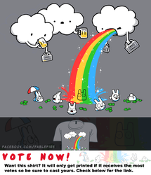 Woot Shirt - Cloudy With A Chance Of Rainbows by fablefire