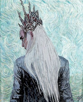 Elvenking Thranduil: In the Van Gogh manner by Ysydora