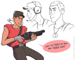 TF2: Tough Guy by rabbitcourage
