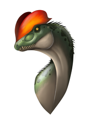 Dilophosaurus head by Lordstevie