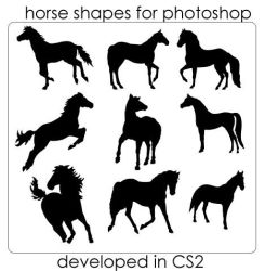 Horse Shapes by hurleyrocks