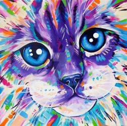 Cats in Colour 1 by Eve-I