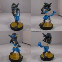 Sir Aaron's Lucario Amiibo by ChibiSilverWings