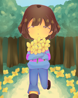 Frisk n' Buttercups by PurpleMangaPowers