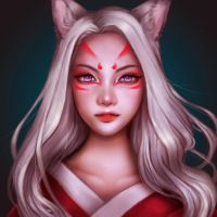 Kitsune by vixyl