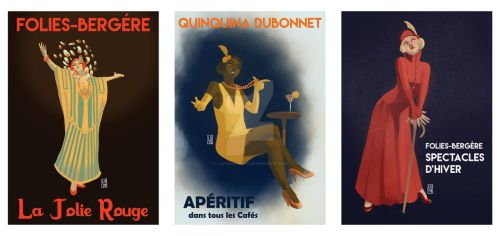 20's posters triptych by LuthOstinato