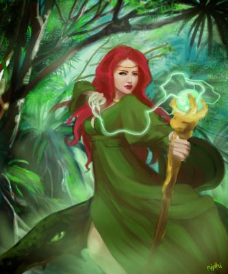 Outcast Odyssey - Swamp Witch by nidhi-rathish