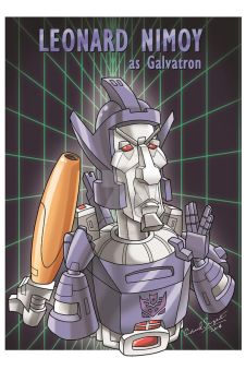 Leonard Nimoy as Galvatron by GeekingsCards