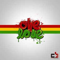 One Love Typography by mrchrisby