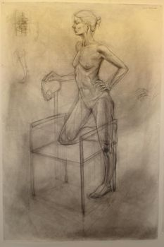 Life Drawing-female standing by truehorror666