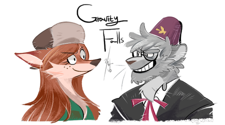 Gravity falls by Ganym0