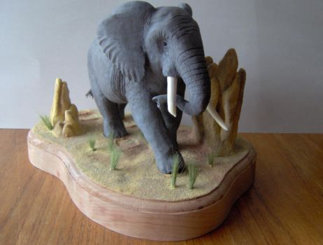 Elephant Carving 1 of 3 by Zillaan