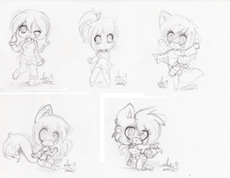 Chibi Set 11 by Annette-Dreams
