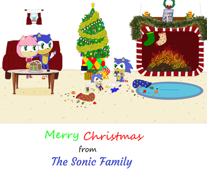 Merry Christmas from the Sonic Family by Pumpkin-Pie13