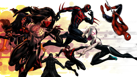 Spiders (Wallpaper) by Citrus07
