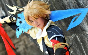 -Dissidia: Tidus I- by lethargic-angel