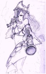 second upcoming champ sketch. by Dane-of-Celestia