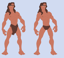 Tarzan-  Wreck-It Ralph RP Fantasy outfits by Dinalfos5