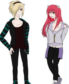 My Elfen Lied OCs by ZexionFanGirl66
