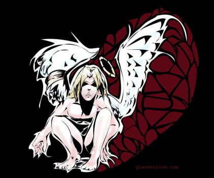 Broken Angel --colored by glasswillow