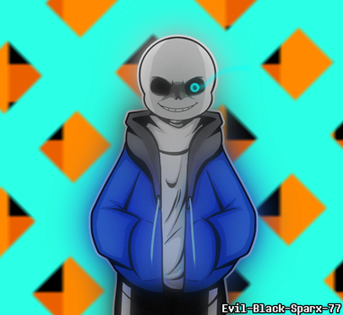 Collab: Bad Time by Evil-Black-Sparx-77