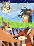 Foxes of seasons by FigoFox