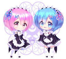 Rem and Ram by LuvYuu
