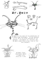 Mr. Meow in 2D by truncheonm