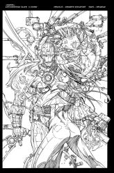 Astonishing Tales Cover Inks by devgear