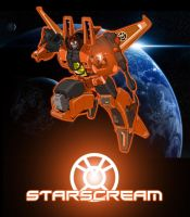 Starscream Orange Lantern by Optimus77463