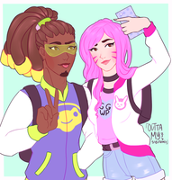 Lucio and Dva by OuttaMySystems
