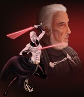 Asajj and Dooku by Fatboy73