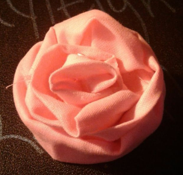 fabric rose by Br0ken-Wing5
