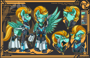 Enforcer Lightning Dust Reference Sheet by TheDracoJayProduct
