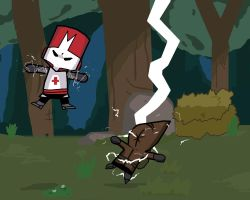 Red Castle Crashers Spark by 2Stickman2