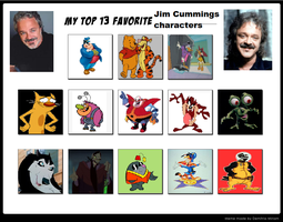 My Top 13 Favorite Jim Cummings Characters by cartoonfanboyone