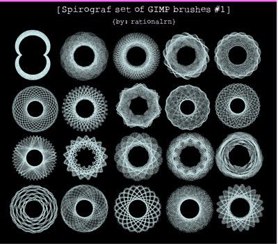Spirograph GIMP brushes 01 by rationalrn