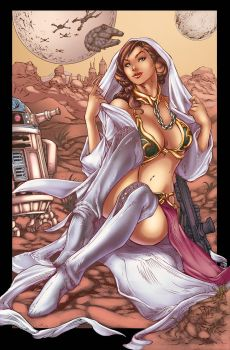 Slave Leia Colors Finished by Marc-F-Huizinga