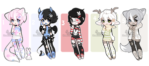 +Boy adoptable mix [ CLOSED] (0/5) + by Hunibi