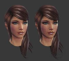 Rift: Eth Female Head by HazardousArts