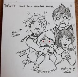 BNHA Inktober 2018 : Day 13 Haunted House by yammyqueen
