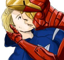 Tony Stark X Steve Rogers by takec