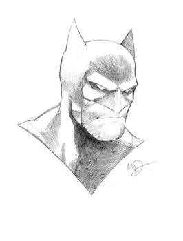 Batman head sketch by Max-Dunbar