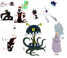 Mixed Monster Adopts (MOVED) by Emptyproxy