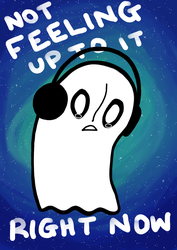 Napstablook - feeling by Blackrystall